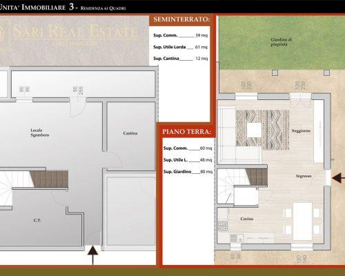 Seminterrato e Piano Terra U.I.3